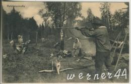 Metsäasunnolla V. 1927 Einwohner Bei Der Jagd   (38584) - Finland