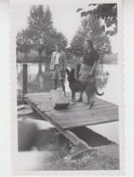 PHOTO ORIGINALE 11X7 / Près STRASBOURG - ILE DES PECHEURS 1950 - Places