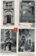 VILLEFRANCHE DE ROUERGUE - 4 CPA - Porte Croisée - Maison Renaissance - Eglise Notre Dame   (86465) - Villefranche De Rouergue