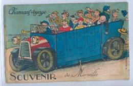CARTE SYSTEME Avec Dépliant 10 Vues - SOUVENIR De MARSEILLE - Charmant Voyage - Autobus - Zonder Classificatie