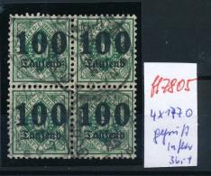 Würtemberg Nr.   4x 177   Geprüft    O  (ff7805  )  Siehe Scan - Wuerttemberg