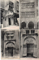 VILLEFRANCHE DE ROUERGUE - 4 CPA - Porte Renaissance - Maison Du XV° Siècle ..  (86470) - Villefranche De Rouergue