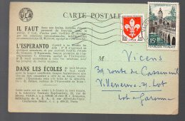 Carte Postale Esperanto 1959 (texte Au Verso En Esperanto) (PPP2811) - Esperanto