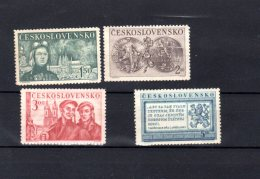 1950  5 Ans De Retablissement De La Tchecoslovaquie Y 528 -531 ** - Unused Stamps