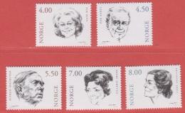 2001 ** (sans Charn., MNH, Postfrish)  Yv  1321/5Mi  1371/5NHK  1415/9 - Norvège