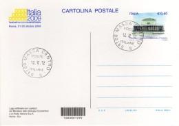 Italia Cartolina Postale Con Annullo Massa 12.12.12 Giorno Della Perfezione Cosmica - Curiosità - Astrologia