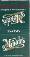 Lucifermapje - Maude's Lexington Avenue At 51st Street.. Matchbox, Matches, 2 Scans - Luciferdozen