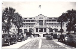 Carte Photo Sheraton Plaza Hotel Seabreeze Manor Daytona Beach Florida Old Cars Writen Stamped 1949 - Daytona