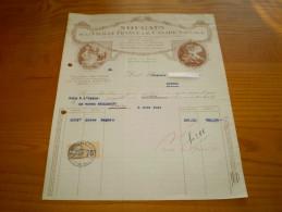 Facture Illustrée Du Nougat Vieille France & Du Canard Sauvage: Loriol & Montélimar, Drôme.timbre Fiscal 75 C Loriol - Alimentaire
