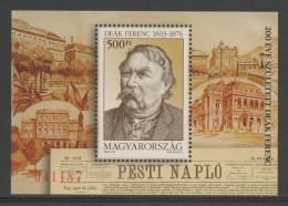 Hungary Ungarn 2003 B 285 = Mi 4815 ** Ferenc Deak (1803-1876) Ungarian Politician, Statesman / Politiker - Nuovi