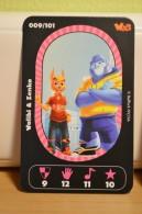 Carte Walibi The Battle Game - Wab Or Skunx ? - Carrefour - N° 9 Walibi Et Zenko - Trading Cards