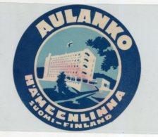 FINLAND, Suomi - Aulanko Hotel - Luggage Label - (580) - Hotel Labels
