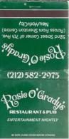 Lucifermapje - Rosie O'Grady's. 52nd Street Corner Of 7th Ave. New York City. Entertainment . Matchbox, Matches, 3 Scans - Luciferdozen