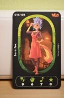 Carte Walibi The Battle Game - Wab Or Skunx ? - Carrefour - N° 17 Sara Fox - Trading Cards