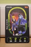 Carte Walibi The Battle Game - Wab Or Skunx ? - Carrefour - N° 30 Haaz Et Zenko - Trading Cards