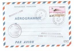TP Concorde C.Aéroport Charles De Gaulle 4/4/1981 1ere Visite Du Concorde à Charleroi Gosselies PR3125 - Poste Aérienne