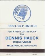Lucifermapje - Dennis Hauck District Agent Millstadt, Illinois. Matchbox, Matches, 2 Scans - Luciferdozen