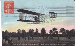 L Aeroplane Wilbur Wright Une Sortie Au Camp D Auvours Colorisee Champagné Sarthe - ....-1914: Precursori
