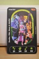 Carte Walibi The Battle Game - Wab Or Skunx ? - Carrefour - N° 36 Zenko, Fibi, Haaz Et Walibi - Trading Cards