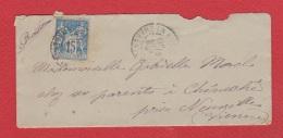 Env Pour Chêneché  -- Dec1890 - Marcophilie (Lettres)