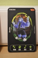 Carte Walibi The Battle Game - Wab Or Skunx ? - Carrefour - N° 38 Zenko - Trading Cards