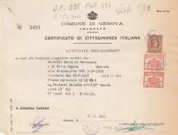 Genova. 1983.  Marche Municipali, Su Documento. - Italie