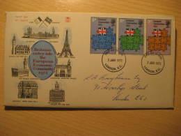 1973 LONDON La Tour Eiffel Tower ... Architecture Monuments Fdc Cancel Cover FRANCE ENGLAND UK GB - Monuments