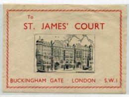 UK, England, London - St. James Court, Hotel - Luggage Label - (599) - Hotel Labels