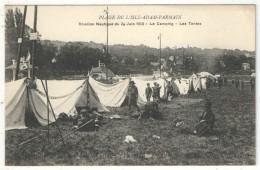 95 - PLAGE DE L´ISLE-ADAM PARMAIN - Réunion Nautique Du 29 Juin 1913 - Le Camping - Les Tentes - Scouts - Scoutisme - L'Isle Adam
