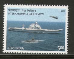 India 2016 International Fleet Review Ship 1v MNH - Ships