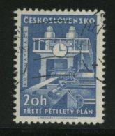 CESKOSLOVENSKO  -  OROLOGIO  Su  Macchinario  Industriale - Orologeria