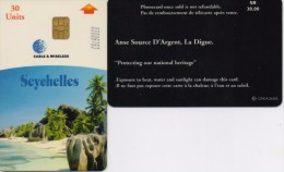 SEYCHELLES PHONECARD ANSE SOURCE D ARGENT,LA DIGUE -1/01-USED(2) - Seychellen