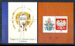VATICAN CINDERELLA BLOCK 2v VISIT POPE JOHN PAUL II TO POLAND * GOLDEN SERIES * COAT OF ARMS * MNH - Blocks & Sheetlets & Panes