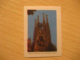 Barcelona La Sagrada Familia GAUDI Barcelona Modernism Architecture Poster Stamp Label Vignette SPAIN - Monuments