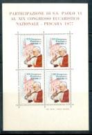 VATICAN CINDERELLA BLOCK 4v VISIT POPE JOHN PAUL II TO PESCARA 1977 * EUCHARIST * MNH - Blocks & Sheetlets & Panes