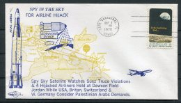 1970 USA Cape Canaveral Space Rocket Cover - Spy In The Sky - Covers & Documents