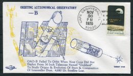1970 USA Cape Canaveral Space Rocket Cover - OAO - B - Covers & Documents
