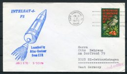 1972 USA Cape Canaveral Space Rocket Cover - INTELSAT 4 - Covers & Documents