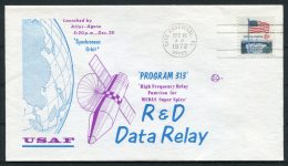 1972 USA Cape Canaveral Space Rocket Cover - PROGRAM 313 - Covers & Documents