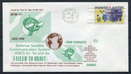 1975 USA Cape Canaveral Space Rocket Cover - DOD-TRW SAMSO - Covers & Documents