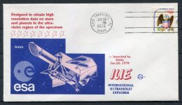1978 USA Cape Canaveral Space Rocket Cover - IUE ESA NASA - Covers & Documents
