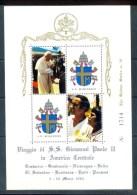 VATICAN CINDERELLA BLOCK 4v VISIT POPE JOHN PAUL II TO CENTRAL AMERICA 1983 * GOLDEN SERIES * COAT OF ARMS * MNH - Blocks & Sheetlets & Panes