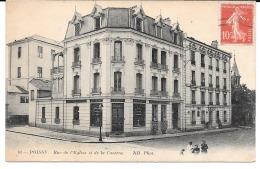 Cpa Poissy - Rue De L'Eglise Et De La Caserne . - Poissy