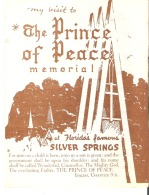My Visit To The Prince Of Peace Memorial, Silver Springs, Florida - Tourism Brochures