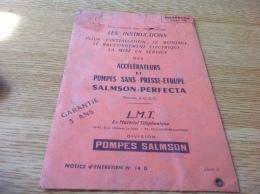 Accélération Et Pompes Sans Presse étoupe Salmson Percecta Matériel Téléphonique Pochette - Fatture & Documenti Commerciali