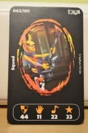 Carte Walibi The Battle Game - Wab Or Skunx ? - Carrefour - N° 62 Squad - Trading Cards