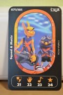 Carte Walibi The Battle Game - Wab Or Skunx ? - Carrefour - N° 71 Squad Et Motiv - Trading Cards