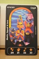 Carte Walibi The Battle Game - Wab Or Skunx ? - Carrefour - N° 74 Motiv, Squad Et Loco - Trading Cards