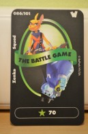 Carte Walibi The Battle Game - Wab Or Skunx ? - Carrefour - N° 86 Zenko Squad - Trading Cards