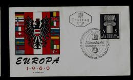 FDC  - EUROPA  CEPT  -  1960 -  AUSTRIA - 1960